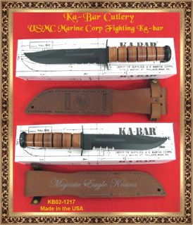 Ka Bar KB1217 U s Marine Corp Fighting Knife Leather Sheath