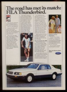 Borg Photo Ford Thunderbird Car Fila Tennis Clothes Print Ad