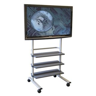 wilson mobile lcd flat panel mount tv display stand