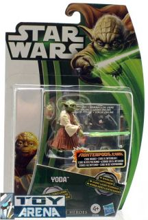 Star Wars Movie Heroes Yoda Action Figure MH08 Legends 2013 Hasbro