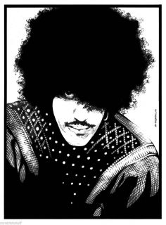 Philip Lynott Black White Jim Fitzpatrick Thin Lizzy Original Signed