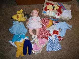 Vintage Fisher Price BABY SOFT SOUNDS Doll & Clothes/Accessories