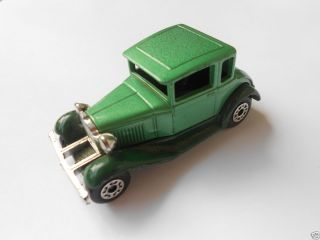 Matchbox Superfast Model A Ford Coupe Green Old Toy Car