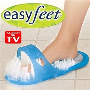 As Seen on TV Easy Feet Shower Foot Cleaner Massager Suction Pumice