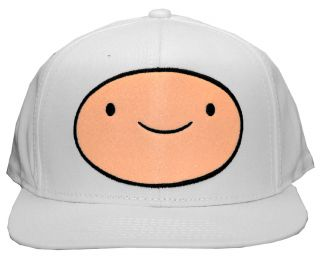 Time Finn Face Cartoon Adult Adjustable Flat Bill Hat Cap