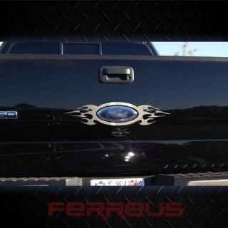 Ford F150 04 08 Flame Tailgate Tail Gate Oval Chrome Style Decal Trim