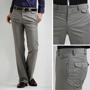 2011 Mens Casual Formal Straight Pants Smooth Trousers