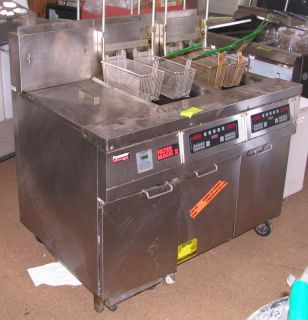 Frymaster Filter Magic II 2 Double Deep Fat Fryer FMH250BLSC Gas Timer