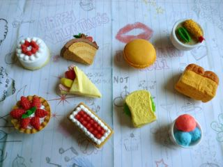 NEW Food/Desserts Miniature Rubber Fridge Magnets