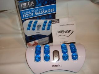 HOMEDICS DUAL ROLLING foot massager with VIBRATION MASSAGE , model #