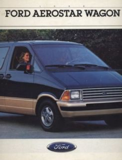 1988 Ford Aerostar Van Dealer Sales Brochure Book
