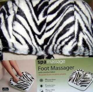 Spa Vibrating Foot Massager in Animal Zebra Print