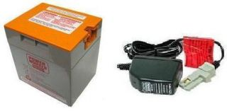 12 Volt Orange Battery Charger Combo Power Wheels Fisher Price 12V