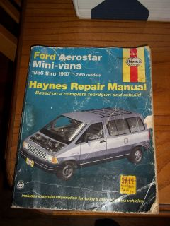 Ford Aerostar 1986 1997 2WD Haynes Repair Manual 36004