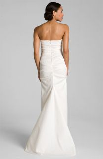 Miller Pintucked Jacquard Fishtail Gown Dress Wedding 8 $1320
