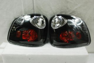 97 03 Ford F 150 Pickup Truck Flareside Body Black Tail Brake Lights