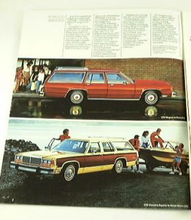 1981 81 FORD Station WAGON BROCHURE Escort LTD Fairmont
