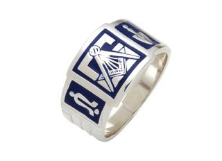 Mens Solid Silver or Gold Masonic Freemason Mason Ring