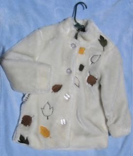Paul Frank White Faux Fur Coat Girls Size Small