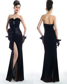Formal Evening Party Black Prom Gown Dress s L 21673