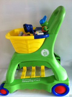LEAP FROG PRETEND AND LEARN SHOPPING CART COMPLETE SET FOOD, BONUS