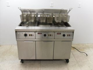 Frymaster 3 Bank Gas Propane Deep Fryer Very Nice