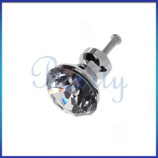Crystal Glass Knob Ambry Cabinet Drawer Furniture Hardware Handle
