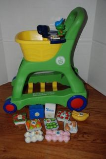 Leap Frog Shopping Cart w Complete Food Set VGUC