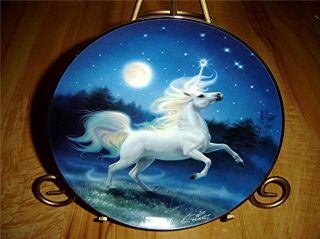 The Diamond Unicorn Franklin Mint Horse Plate