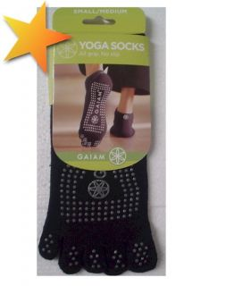 Gaiam Yoga Toe Socks – Small Medium Men Women WA40399
