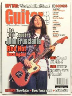 GUITAR ONE MAGAZINE JOHN FRUSCIANTE RED HOT CHILI PEPPERS CARLOS