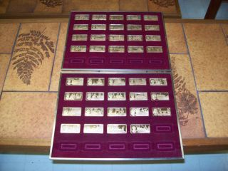 Franklin Mint 100 Greatest Americans Bronze Ingots 39 Pieces GORGEOUS
