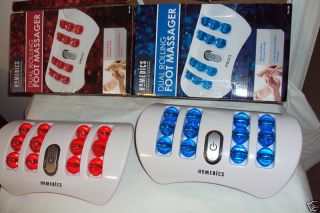Homedics Dual Rolling Foot Massager Manual Red Blue New