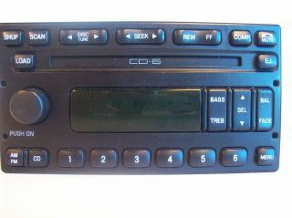 FORD CD 6 DISC PLAYER RADIO CHANGER STEREO 3C3T 18C815 AC F150 F250
