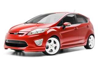 11 13 Ford Fiesta Body Kit 5 Pcs Air Dam Lower Skirt Side Skirts Roof