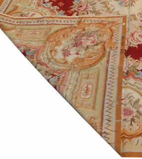 x10 Hand Woven Wool French Aubusson Flat Weave Rug Brand New Free