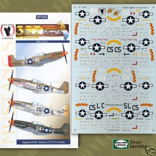 51 357th Fighter Group 3 Fricker Carson 1 72 decals Eagle Strike