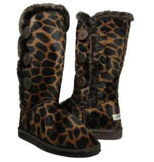 Womens Bailey 3 Button Faux Fur Lined Eskimo Boots Winter Giraffe