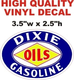 Vintage Style Dixie Gasoline Oil Decal Gas Pump Decal Nice Glossy The