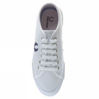 Fred Perry Vintage Tennis Canvas UK Size White Trainers Shoes Mens New