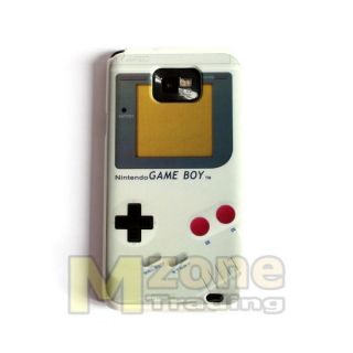 White Game Boy Hard Case Cover for Samsung i9100 Galaxy S II S2