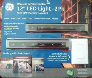 GE Wireless Remote Control 12 LED Light 2 pk under cabinet NEW