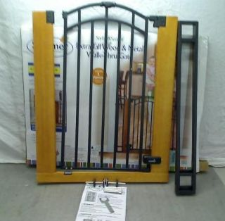Stylish N Secure Extra Tall Wood and Metal Walk Through Gate