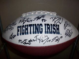 Notre Dame Fighting Irish 2012 Team Signed Autographed Logo Football w