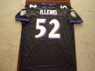 Ray Lewis Ravens Black Authentic Jersey New with Price Tag 230 00