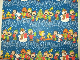 Gift Wrap Snoopy Charlie Brown Peanuts Christmas Gift Wrap