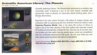 Scientific American Library The Planets PC CD Planetary Space