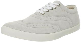 Generic Surplus Mens Suede Wing Tip White