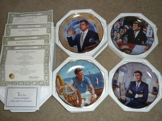 FRANKLIN MINT JOHN F. KENNEDY LIMITED EDITION PLATES BY MAX GINSBURG