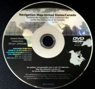2011 GM Navigation Map Disc DVD 9 3 Update Cadillac Escalade